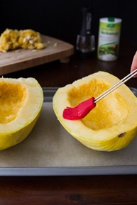 how to roast a spaghetti squash 6681   Creamy Avocado Spaghetti Squash Pasta + How To Roast Spaghetti Squash