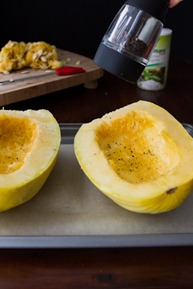 how to roast a spaghetti squash 6682   Creamy Avocado Spaghetti Squash Pasta + How To Roast Spaghetti Squash