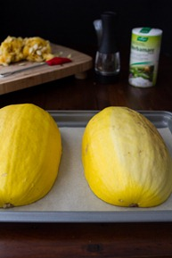 how to roast a spaghetti squash 6683   Creamy Avocado Spaghetti Squash Pasta + How To Roast Spaghetti Squash