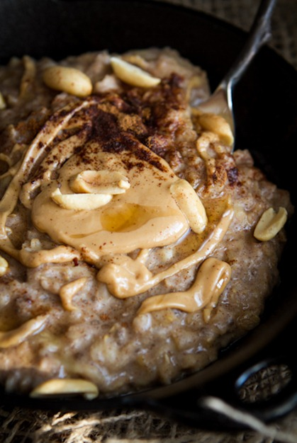 peanut butter banana oatmeal 4967   Early Morning Peanut Butter Banana Oatmeal
