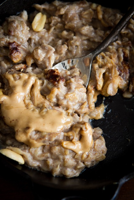 peanut butter banana oatmeal 4981   Early Morning Peanut Butter Banana Oatmeal