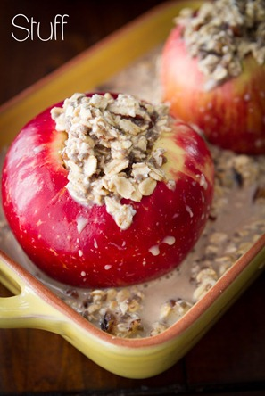 Baked Apple Oatmeal 7345 thumb   Baked Apples Stuffed with Cinnamon Date Pecan Oatmeal