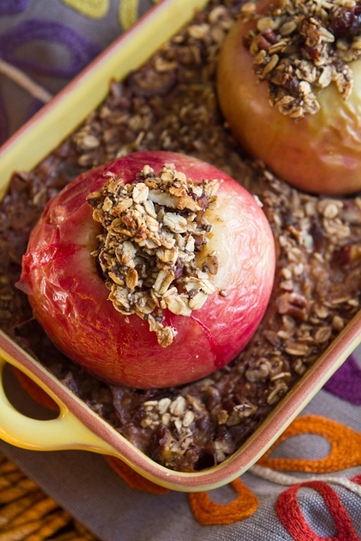 Baked Apples Stuffed with Cinnamon Date Pecan Oatmeal — Oh She Glows