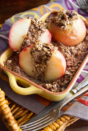 Baked Apple Oatmeal 7371 thumb   Baked Apples Stuffed with Cinnamon Date Pecan Oatmeal