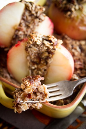 Baked Apple Oatmeal 7374 thumb   Baked Apples Stuffed with Cinnamon Date Pecan Oatmeal