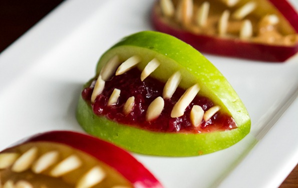 3 Ingredient Halloween Apple Bites
