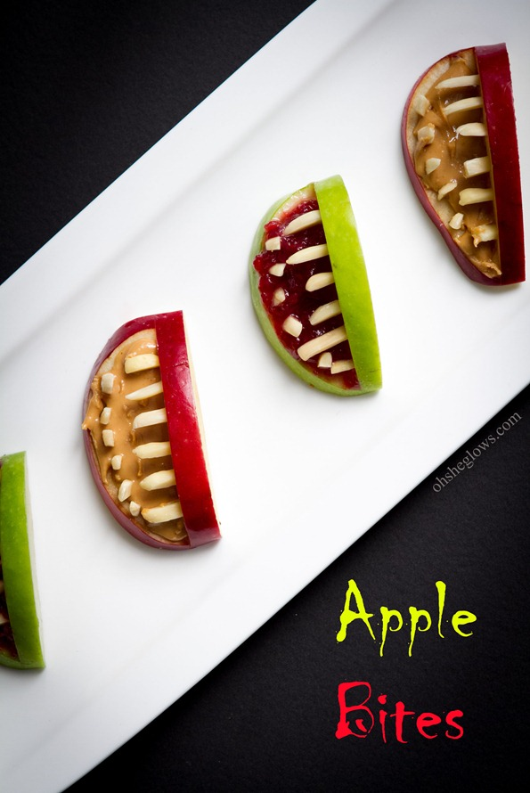 halloween apple bites 7011   3 Ingredient Halloween Apple Bites