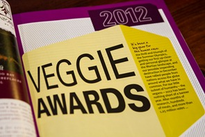 vegnews awards 7601 thumb   Creamy Orange Sunshine Soup (aka…Frankensoup!)