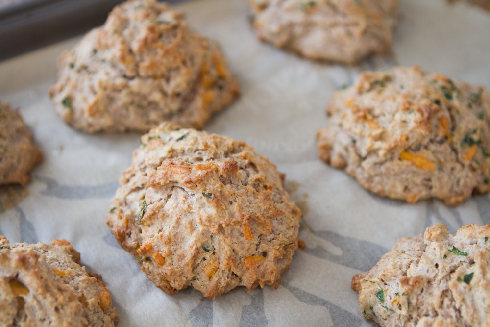 Herb & Cheese Drop Biscuits… with a secret ingredient! — Oh She ...