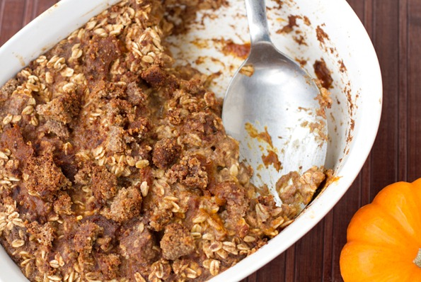 leftover pumpkin pie casserole-4775