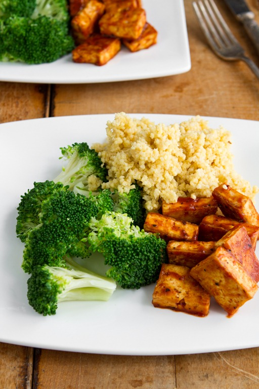 ... tofu slices oven baked bbq barbecue tofu easy recipe jinxi boo jinxi