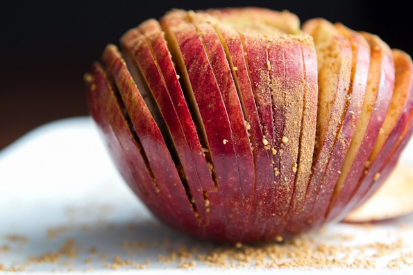 hasselback apple 7488 thumb   Hasselback Potatoes and Hasselback Apples –The Show Down