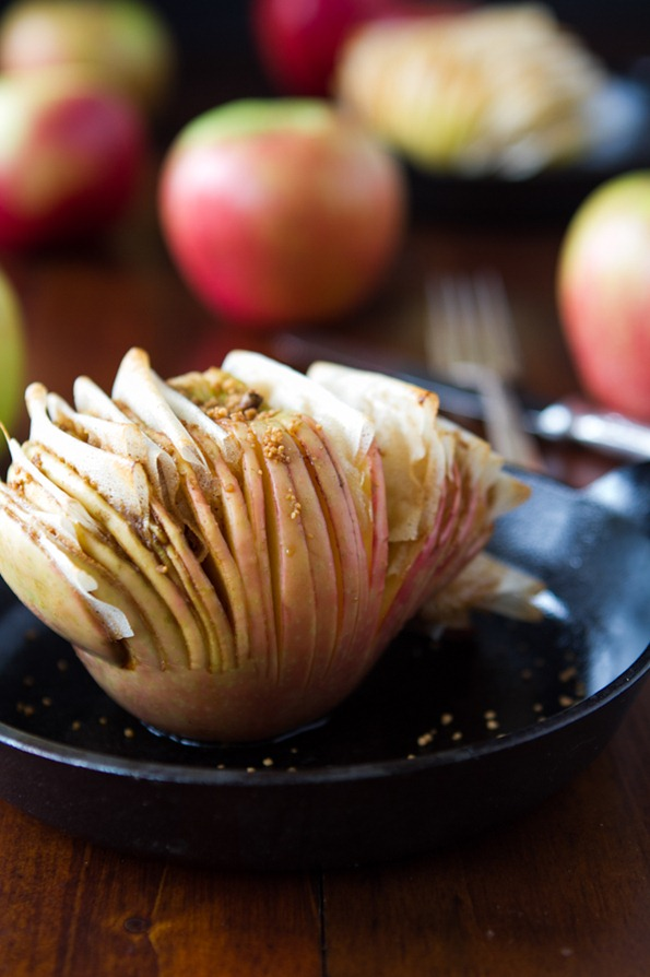 hasselback apple 7497 thumb   Hasselback Potatoes and Hasselback Apples –The Show Down