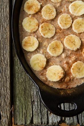 banana foster baked oatmeal 1708 thumb   Vegan Bananas Foster Baked Oatmeal