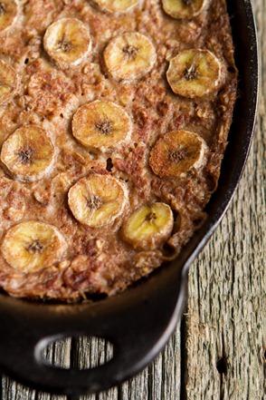 banana foster baked oatmeal 1714 thumb   Vegan Bananas Foster Baked Oatmeal