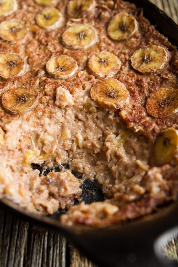 banana foster baked oatmeal 1722 thumb   Vegan Bananas Foster Baked Oatmeal