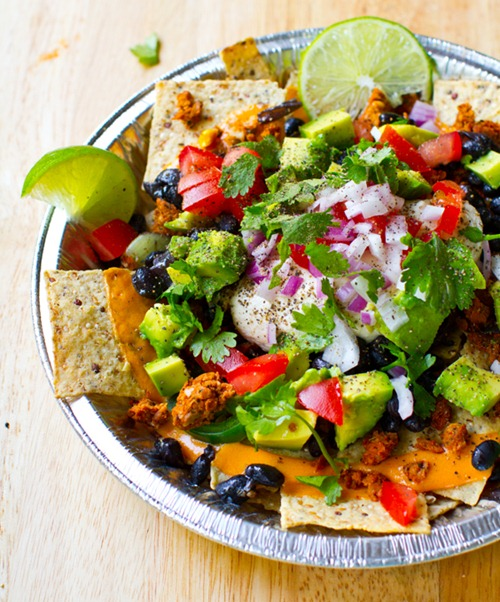 vegan nachos 14 HHL thumb   The Big Vegan Super Bowl Recipe Round Up