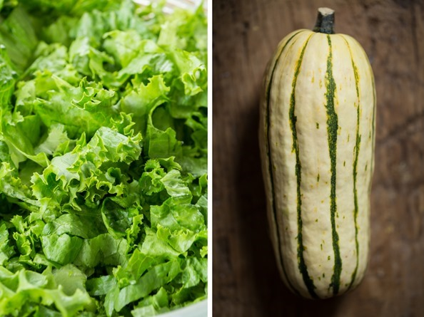 saladsquash   Ultra Creamy Hemp Salad Dressing (nut free, oil free) + Delicata Squash Salad