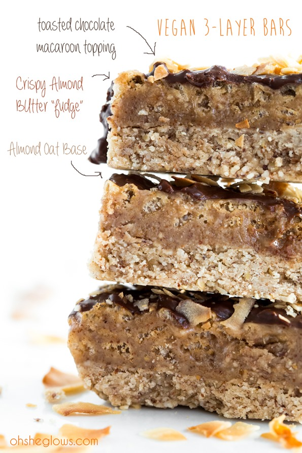 veganchocolatebar 2155   3 Layer Almond Coconut Chocolate Bars