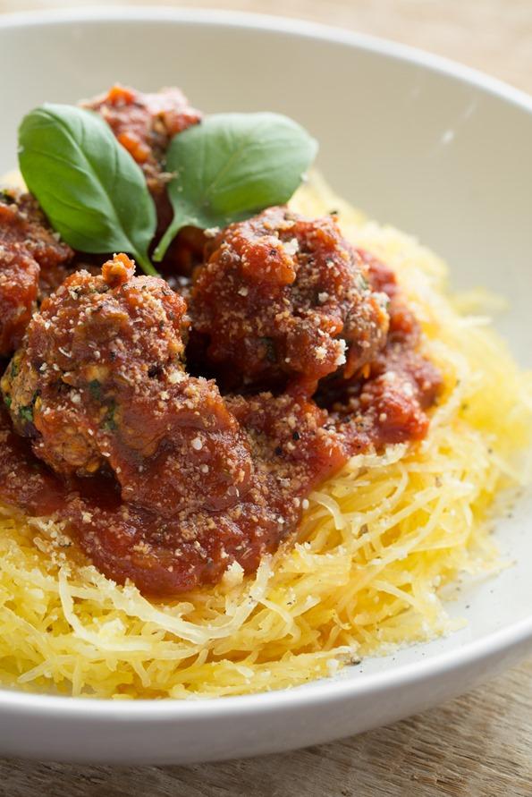 veganmeatballs 2457   Italian Bean Balls & Spaghetti Squash Noodles