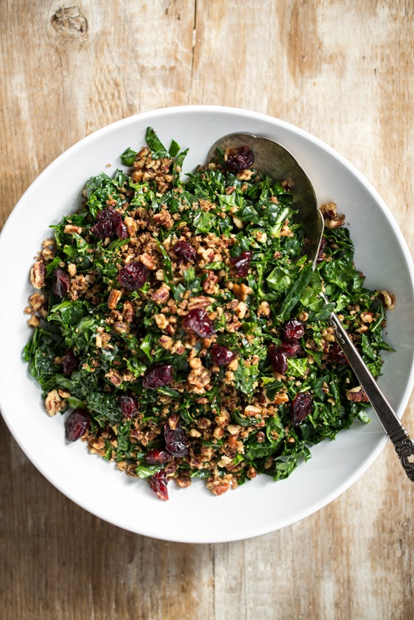 bestkalesalad 3680   The Best Shredded Kale Salad