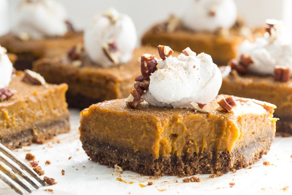 pumpkinpiesquaresvegan 2796   Vegan Pumpkin Pie Squares with Gluten Free Graham Cracker Crust