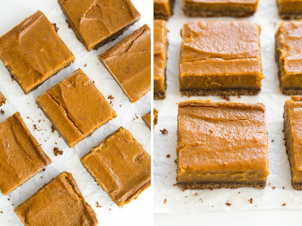 squares   Vegan Pumpkin Pie Squares with Gluten Free Graham Cracker Crust