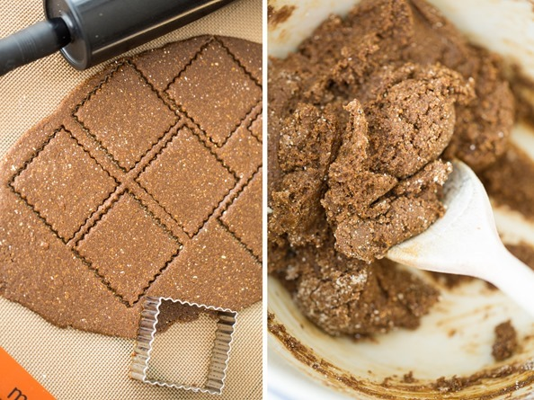 vegangrahamcrackers2   Gluten Free and Vegan Graham Crackers