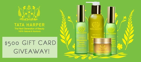 unnamed   $500 Gift Card Giveaway for Tata Harper!