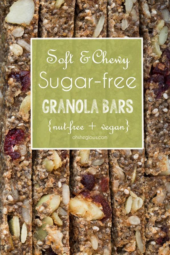 sugarfreegranolabar 4621   Soft & Chewy Baked Granola Bars