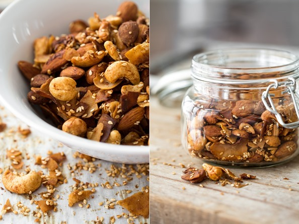 barnuts   Smoky & Spicy Nut, Sesame, and Coconut 'Bacon' Bar Nuts