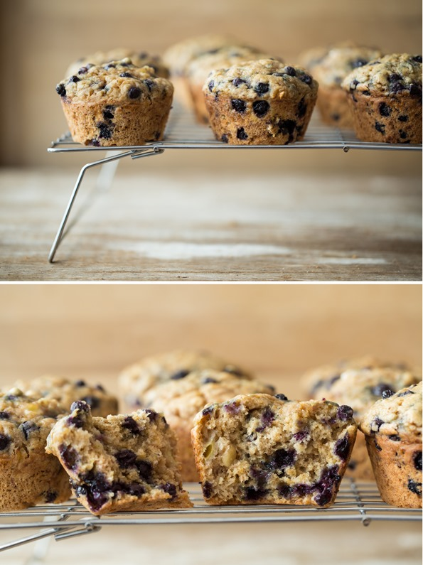 veganblueberrybananamuffinsspelt   Blissful Blueberry Banana Spelt Muffins (vegan + refined sugar free)