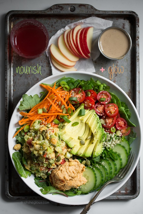 nourishglowsaladbowl 6473   Exciting News! Plus, The Nourish + Glow Miracle Bowl