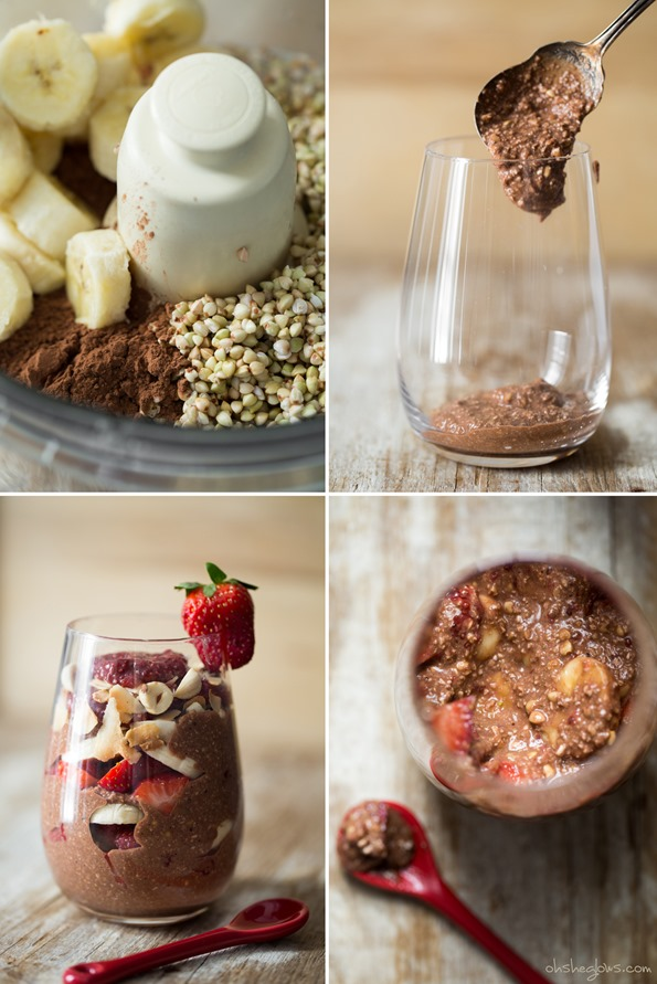 rawchocolatebuckwheatparfait   Raw Chocolate Hazelnut Breakfast Parfait + Book News