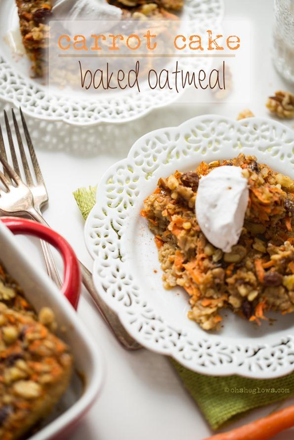 vegancarrotcakebakedoatmeal 6310   Heavenly Carrot Cake Baked Oatmeal