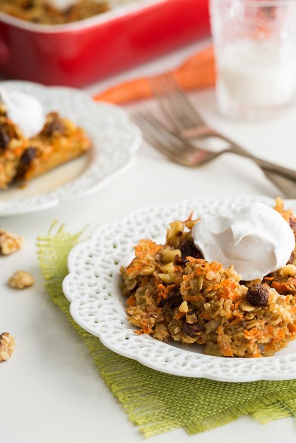 vegancarrotcakebakedoatmeal 6325   Heavenly Carrot Cake Baked Oatmeal