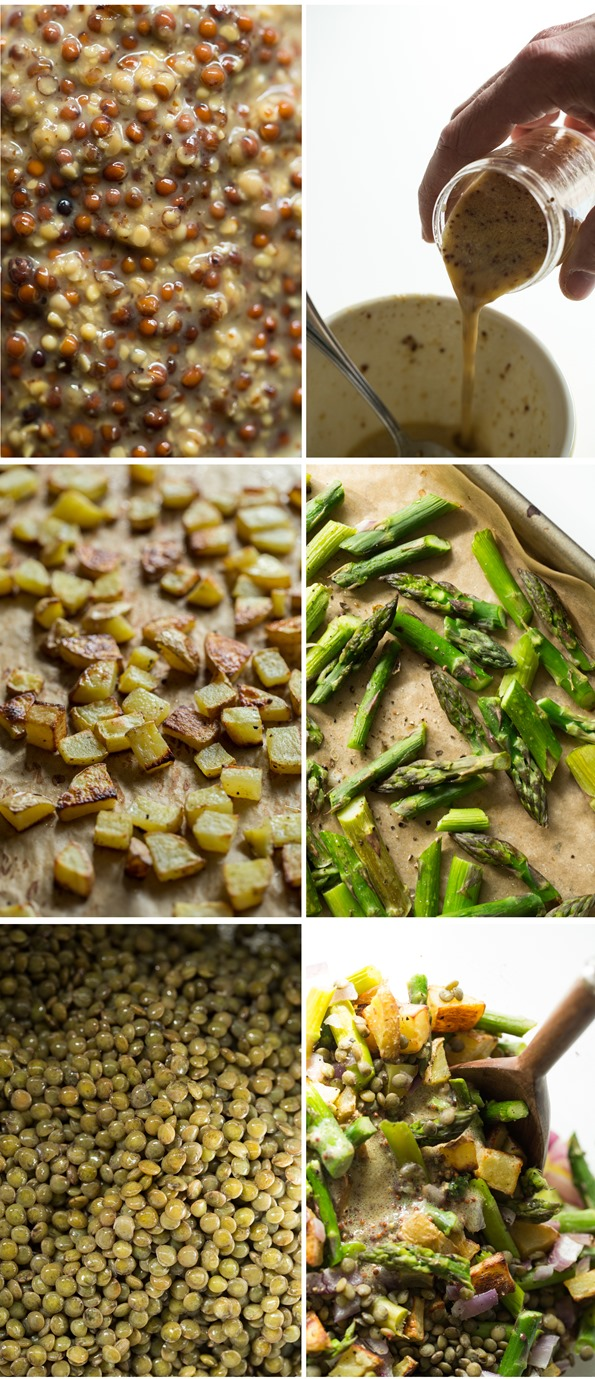 Roasted Potato and Asparagus Lentil Salad with Tangy Mustard-Lemon ...