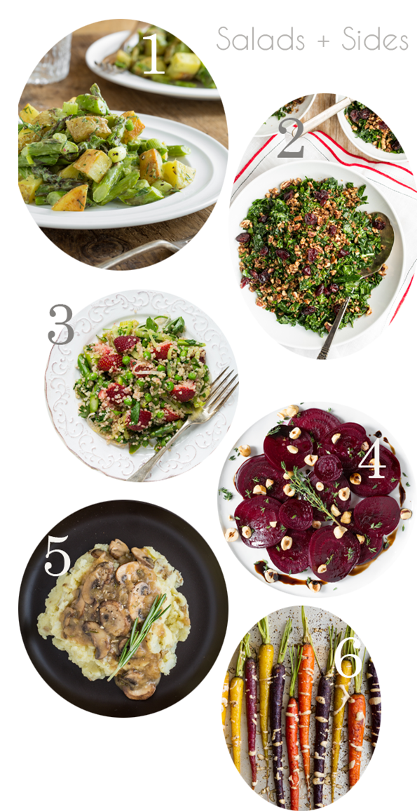 vegansalads   23 Vegan Easter Menu Ideas: Salads, Sides, Entrées, Treats, & Brunch!
