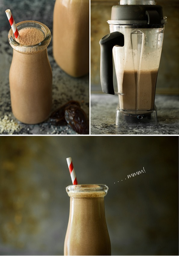 chocolatesmoothievegan   Creamy Chocolate Hemp Smoothie for Two