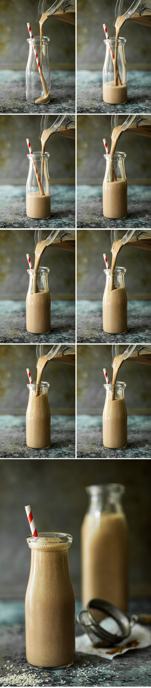 chocolathempsmoothie   Creamy Chocolate Hemp Smoothie for Two