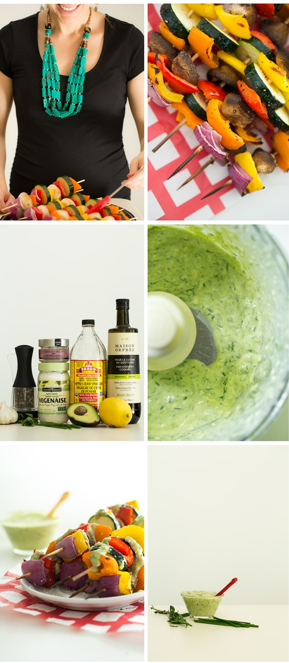 goddessdressing   Vegan Green Goddess Dressing with Grilled Veggie Kabobs