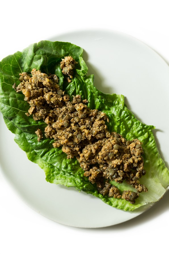 vegantacos 8778   Ultimate Green Taco Wraps with Lentil Walnut Taco Meat (Vegan + Gluten Free)
