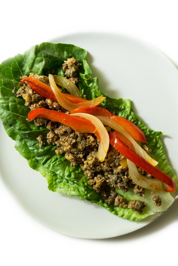 vegantacos 8779   Ultimate Green Taco Wraps with Lentil Walnut Taco Meat (Vegan + Gluten Free)