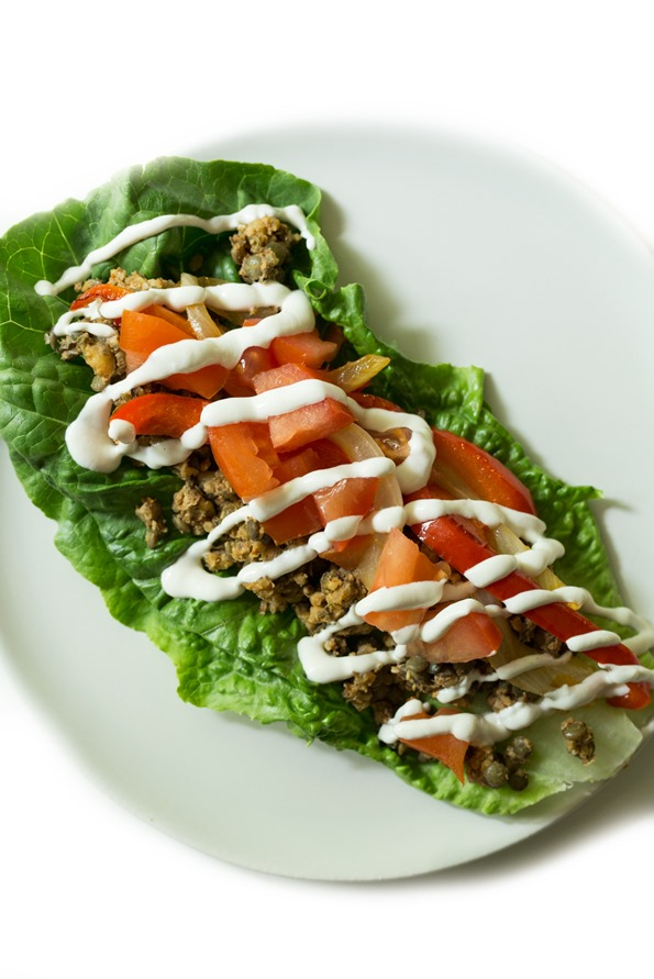vegantacos 8784   Ultimate Green Taco Wraps with Lentil Walnut Taco Meat (Vegan + Gluten Free)