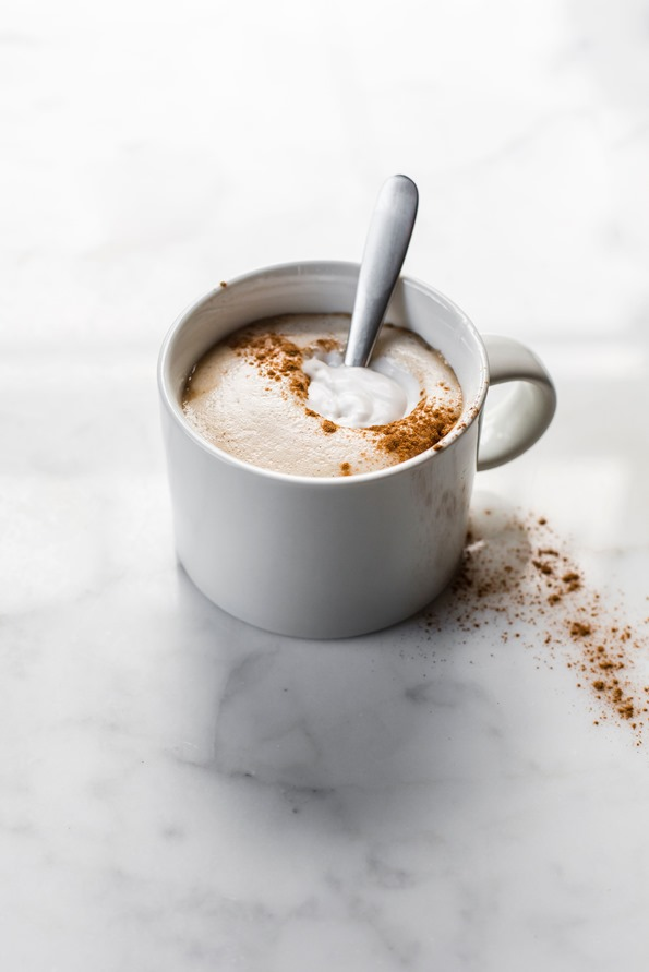 Homemade Pumpkin Spice Latte with Salted Pumpkin Spice Syrup | oh she ...