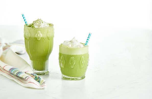 Image result for Iced Vanilla Bean Matcha Latte